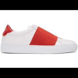 WHITE AND RED GIVENCHY SNEAKERS